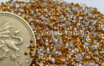 4pp Crystal AB silver-foiled chatons 60 x Preciosa 1ss
